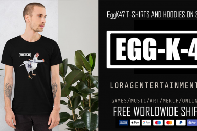 LORAG ENTERTAINMENT EGGK47 BLACK T SHIRT AD